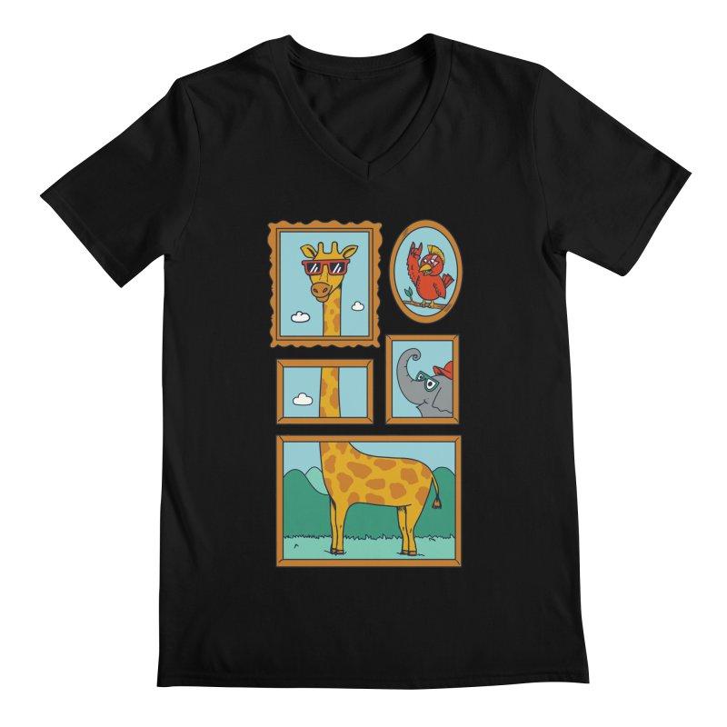 Animals Men's Regular V-Neck by coffeeman's Artist Shop