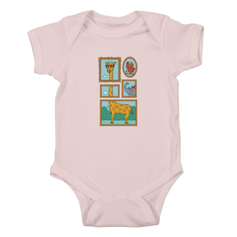 Animals Kids Baby Bodysuit by coffeeman's Artist Shop