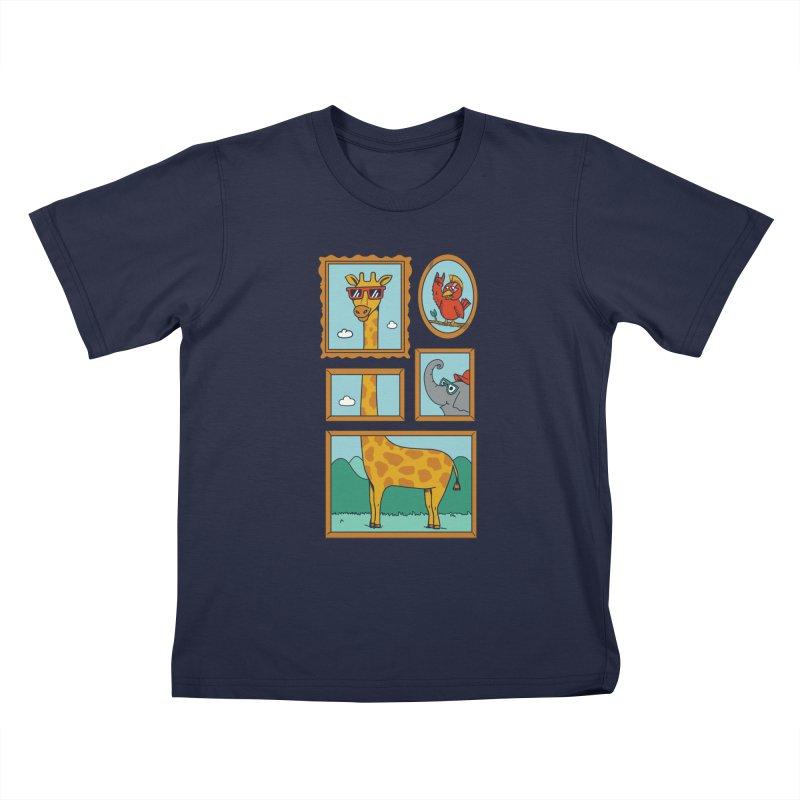 Animals Kids T-Shirt by coffeeman's Artist Shop