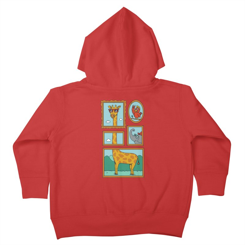 Animals Kids Toddler Zip-Up Hoody by coffeeman's Artist Shop