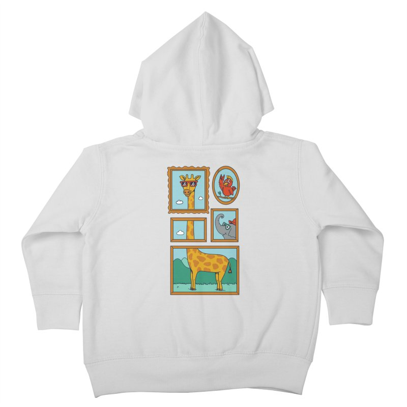 Animals Kids Toddler Zip-Up Hoody by coffeeman's Artist Shop