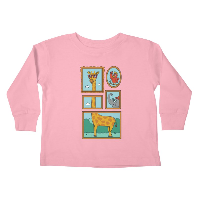 Animals Kids Toddler Longsleeve T-Shirt by coffeeman's Artist Shop