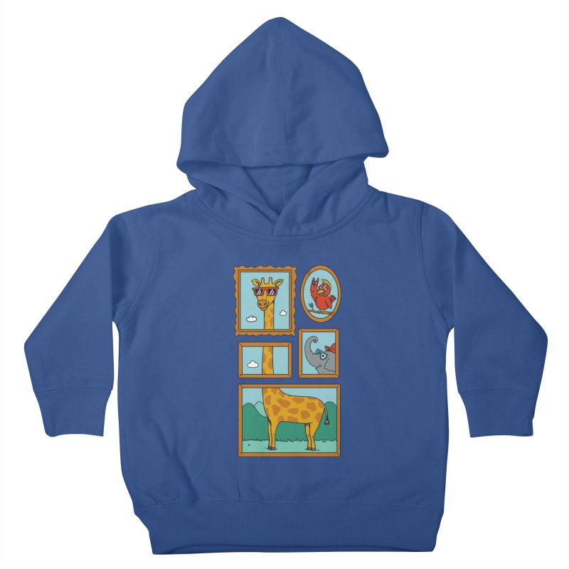 Animals Kids Toddler Pullover Hoody by coffeeman's Artist Shop