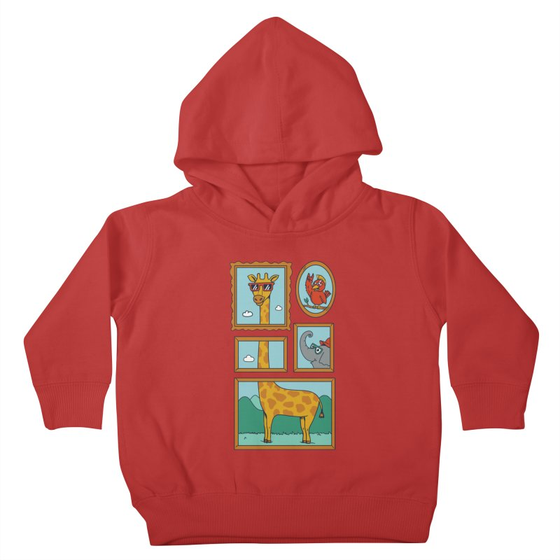 Animals Kids Toddler Pullover Hoody by coffeeman's Artist Shop