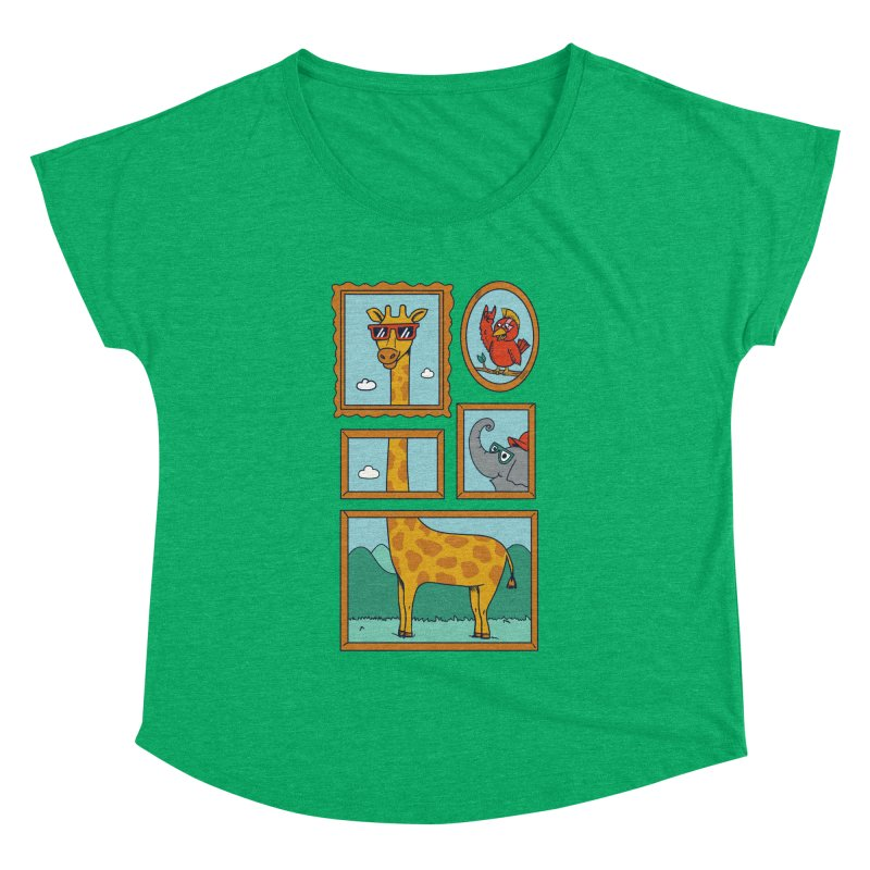 Animals Women's Dolman Scoop Neck by coffeeman's Artist Shop