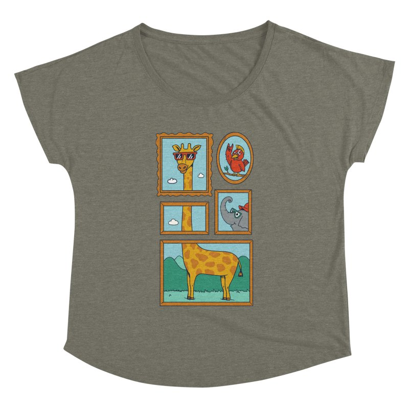 Animals Women's Dolman Scoop Neck by coffeeman's Artist Shop