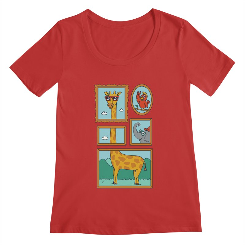 Animals Women's Regular Scoop Neck by coffeeman's Artist Shop