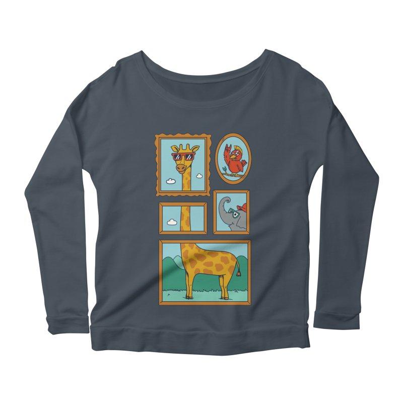 Animals Women's Scoop Neck Longsleeve T-Shirt by coffeeman's Artist Shop