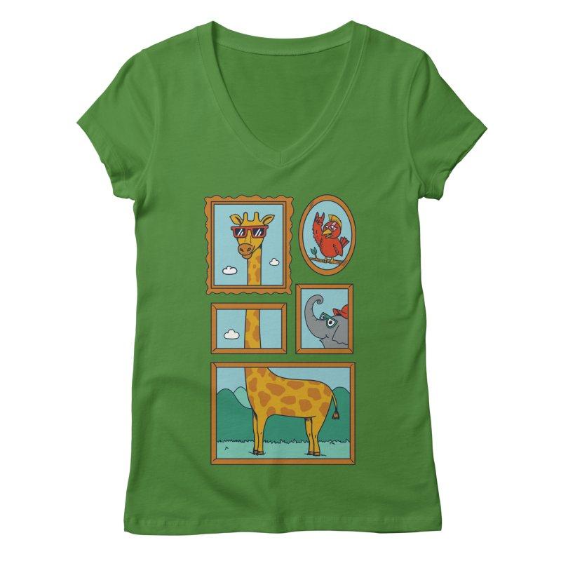 Animals Women's Regular V-Neck by coffeeman's Artist Shop