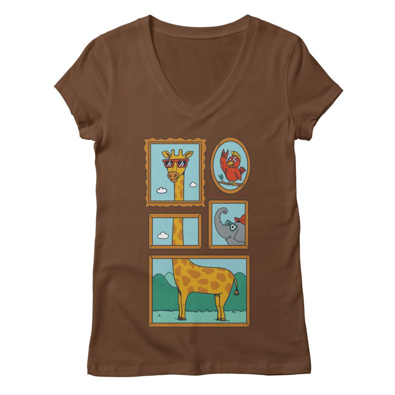 Animals Women's Regular V-Neck by coffeeman's Artist Shop