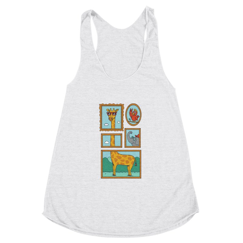 Animals Women's Racerback Triblend Tank by coffeeman's Artist Shop