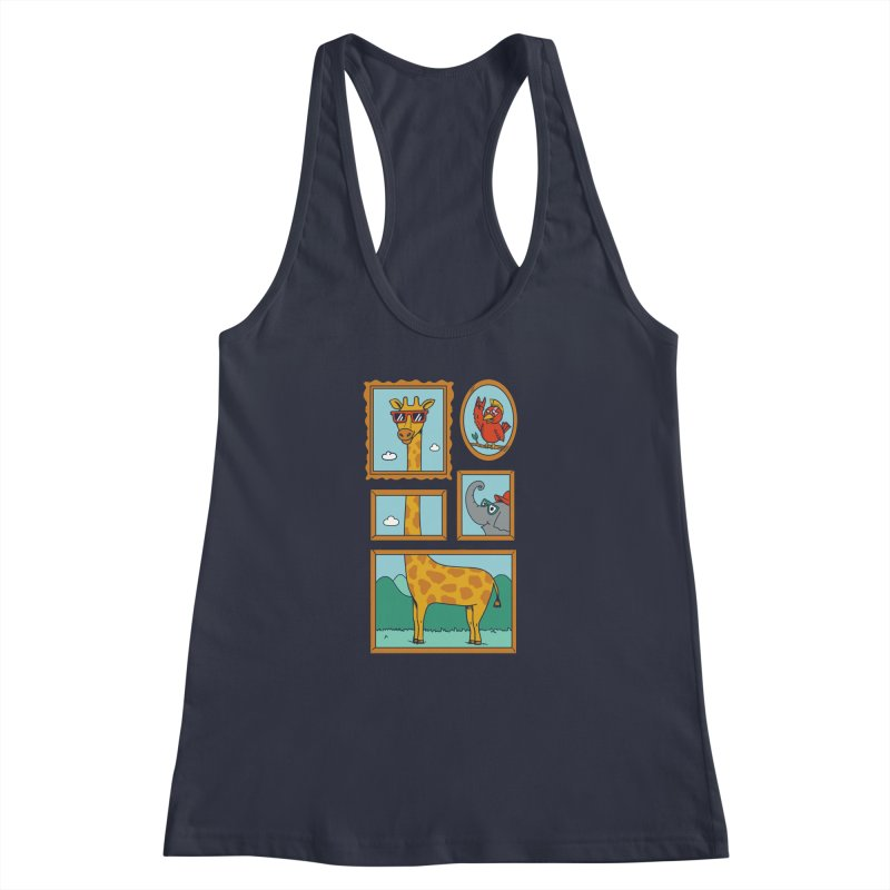 Animals Women's Racerback Tank by coffeeman's Artist Shop