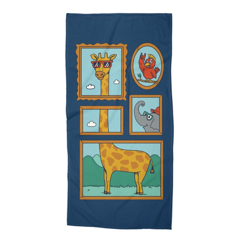 Animals Accessories Beach Towel by coffeeman's Artist Shop