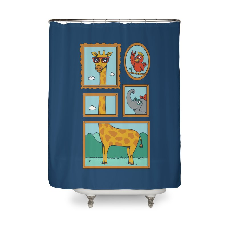 Animals Home Shower Curtain by coffeeman's Artist Shop