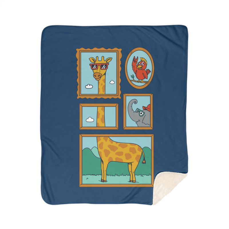 Animals Home Sherpa Blanket Blanket by coffeeman's Artist Shop