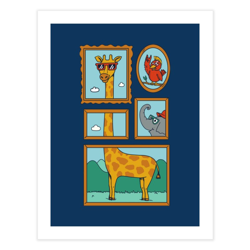 Animals Home Fine Art Print by coffeeman's Artist Shop
