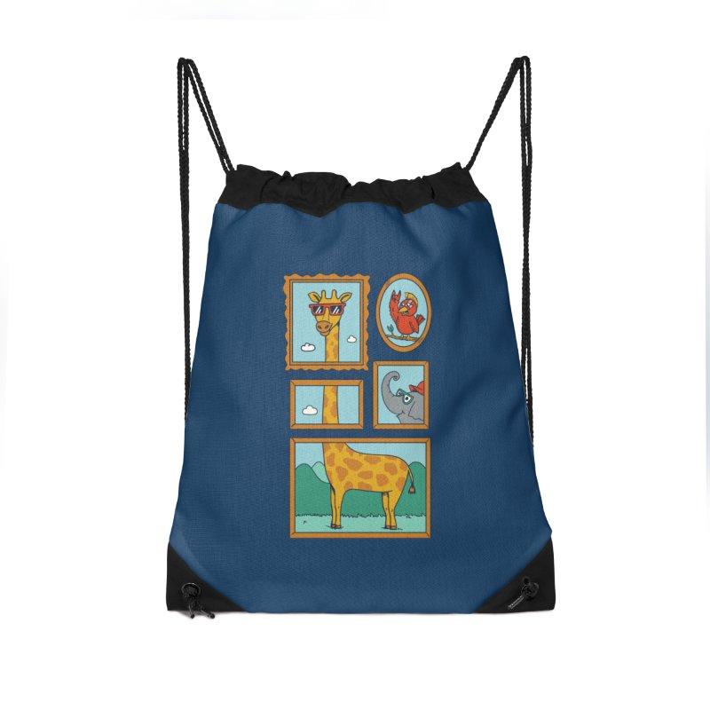 Animals Accessories Drawstring Bag Bag by coffeeman's Artist Shop