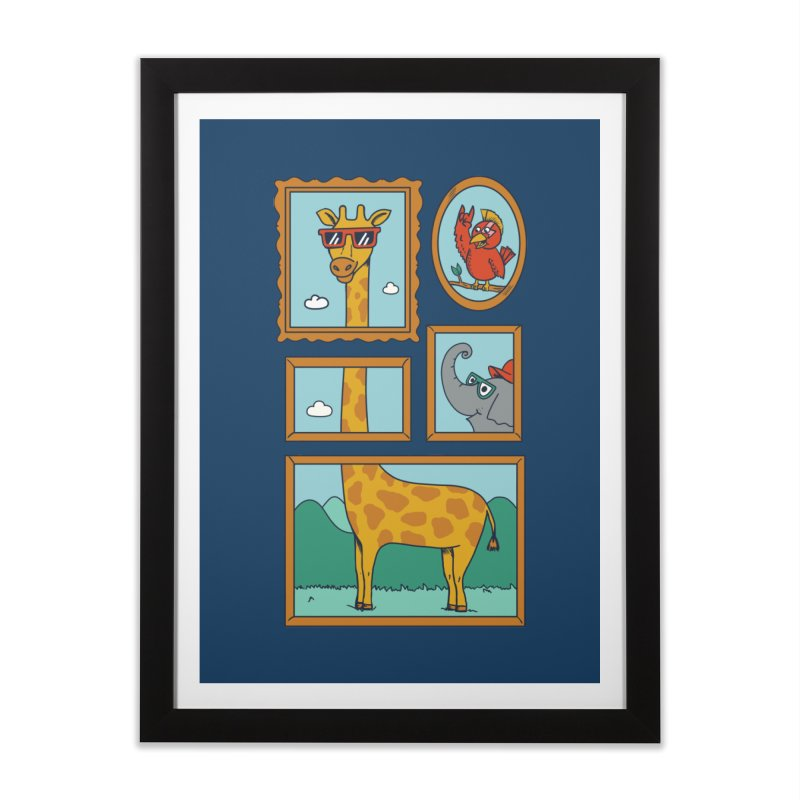 Animals Home Framed Fine Art Print by coffeeman's Artist Shop