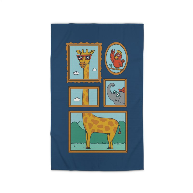 Animals Home Rug by coffeeman's Artist Shop