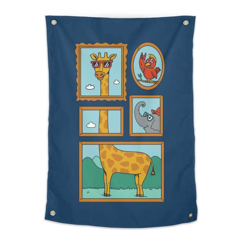 Animals Home Tapestry by coffeeman's Artist Shop