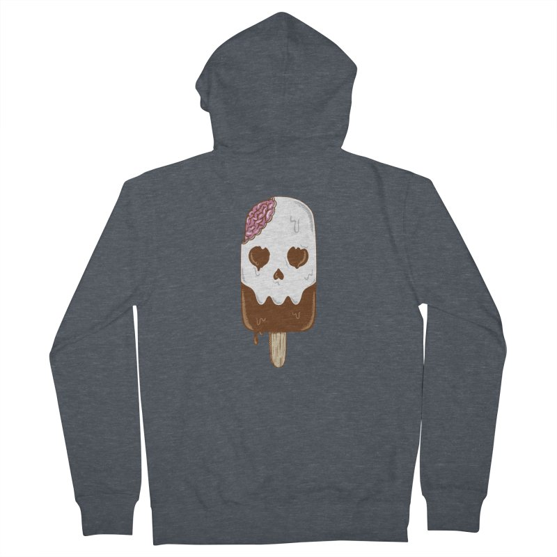 Skull Women's French Terry Zip-Up Hoody by coffeeman's Artist Shop