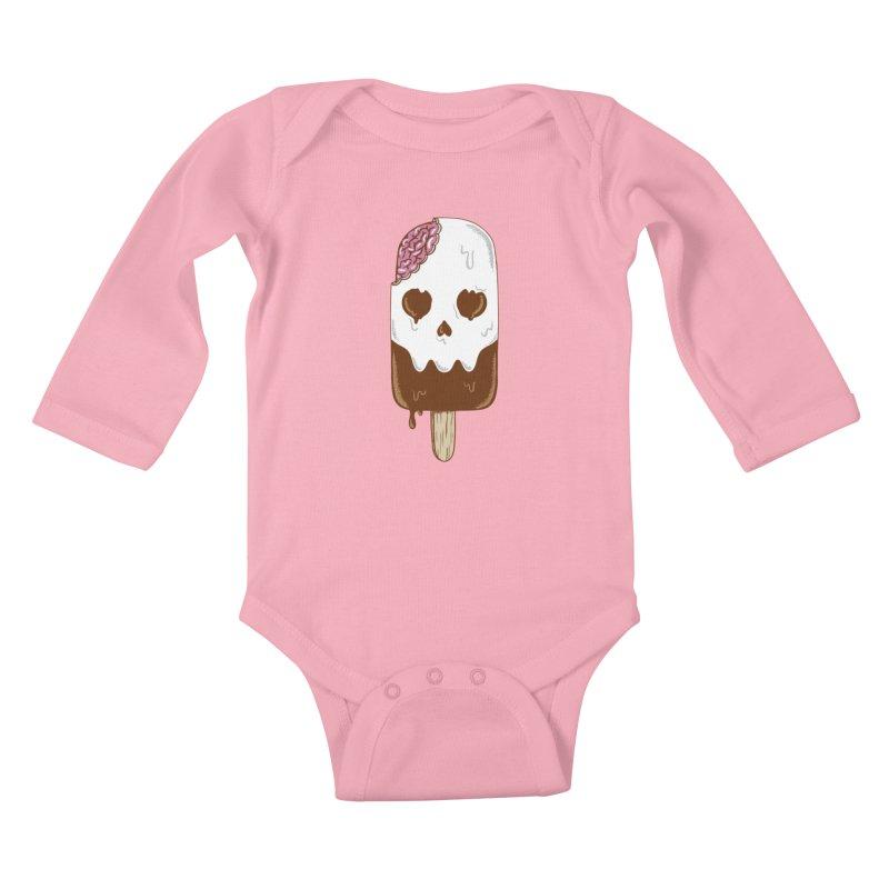 Skull Kids Baby Longsleeve Bodysuit by coffeeman's Artist Shop