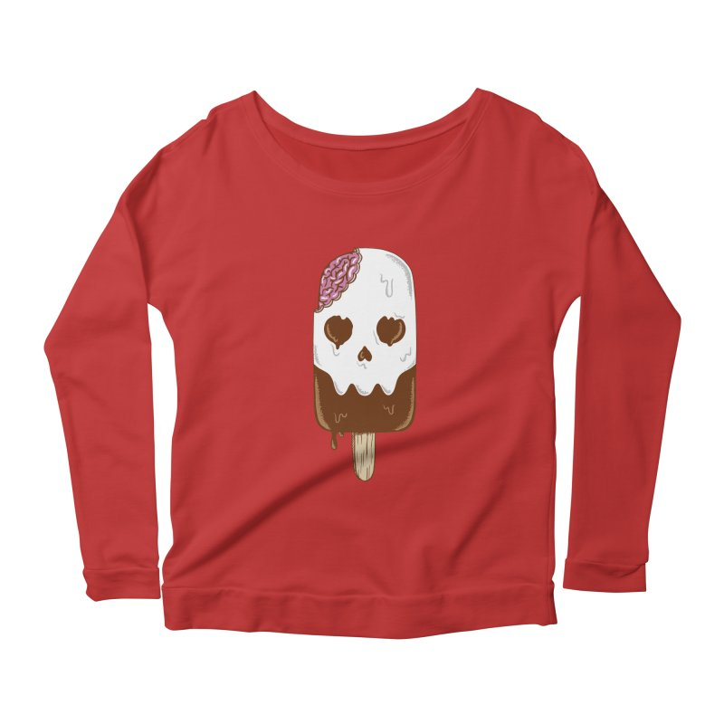 Skull Women's Scoop Neck Longsleeve T-Shirt by coffeeman's Artist Shop