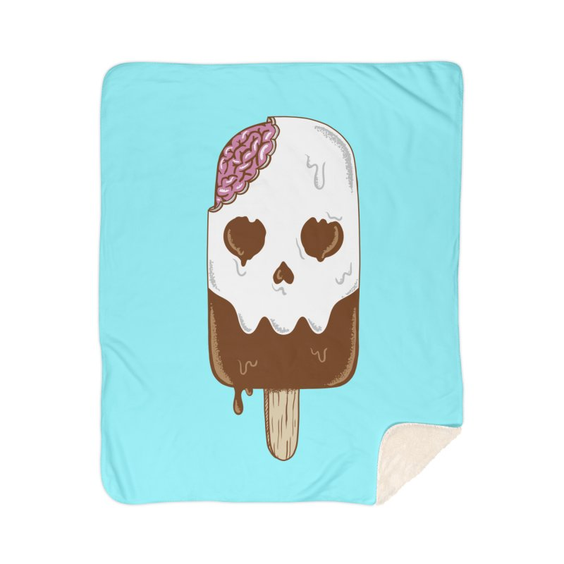 Skull Home Sherpa Blanket Blanket by coffeeman's Artist Shop
