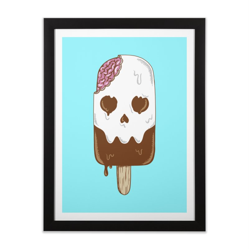 Skull Home Framed Fine Art Print by coffeeman's Artist Shop