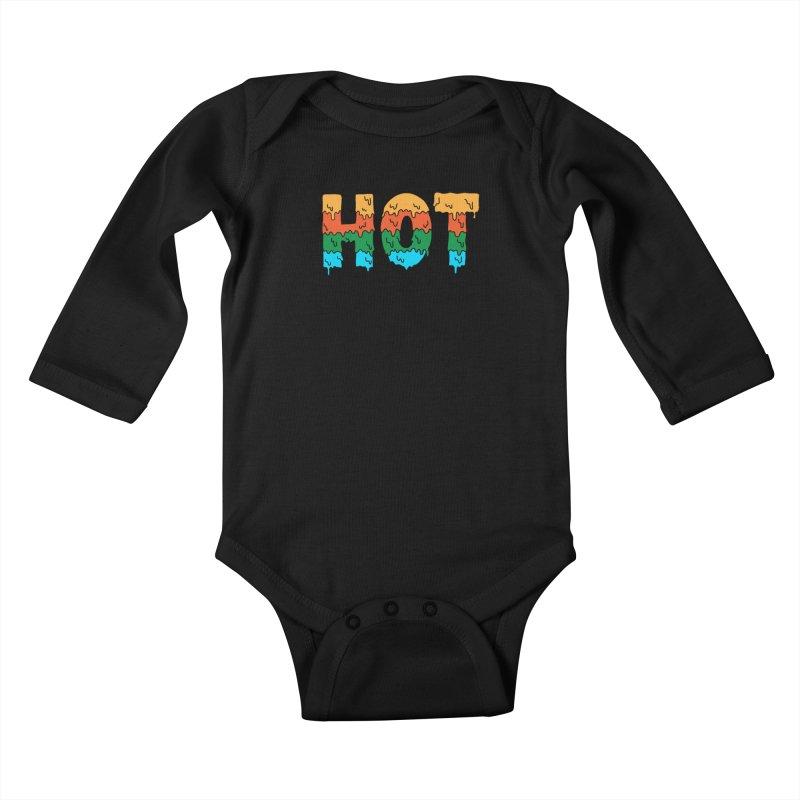 hot Kids Baby Longsleeve Bodysuit by coffeeman's Artist Shop