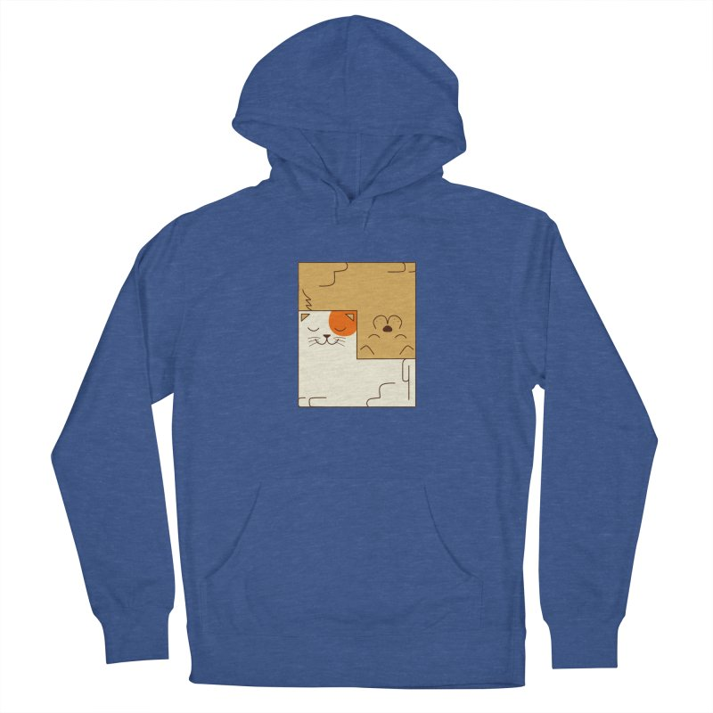 Cat and Dog Women's French Terry Pullover Hoody by coffeeman's Artist Shop