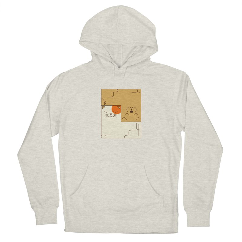 Cat and Dog Men's French Terry Pullover Hoody by coffeeman's Artist Shop