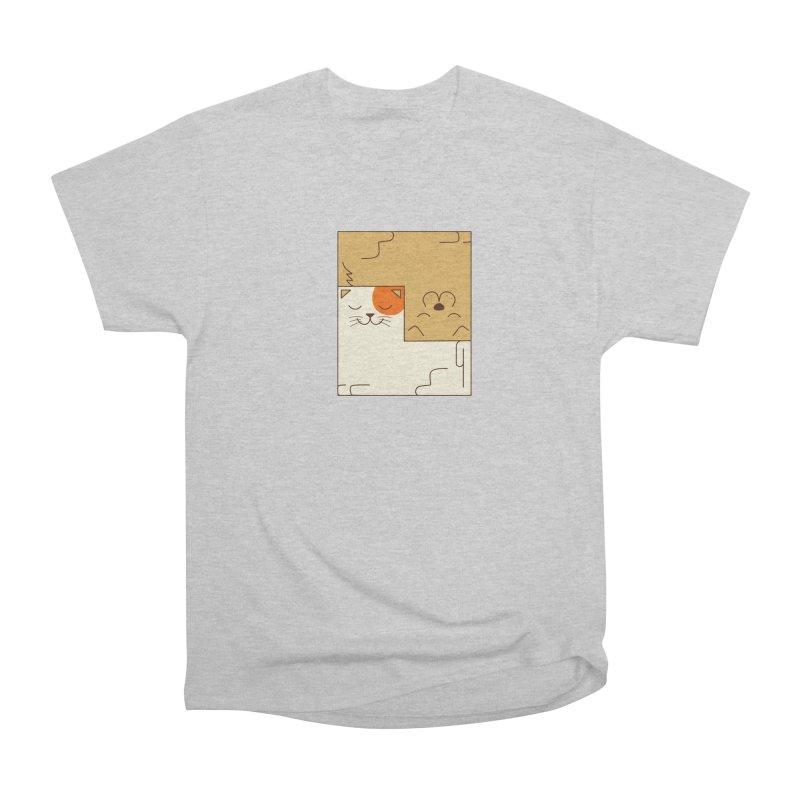 Cat and Dog Women's Heavyweight Unisex T-Shirt by coffeeman's Artist Shop