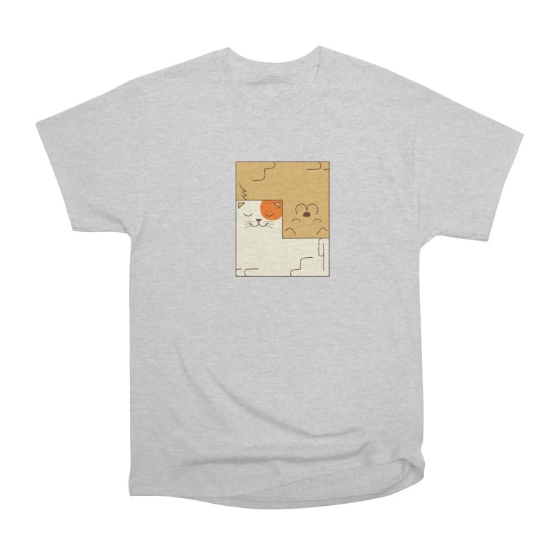 Cat and Dog Men's Heavyweight T-Shirt by coffeeman's Artist Shop