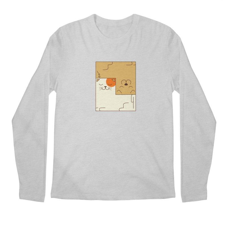 Cat and Dog Men's Regular Longsleeve T-Shirt by coffeeman's Artist Shop