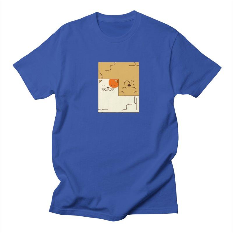 Cat and Dog Men's Regular T-Shirt by coffeeman's Artist Shop
