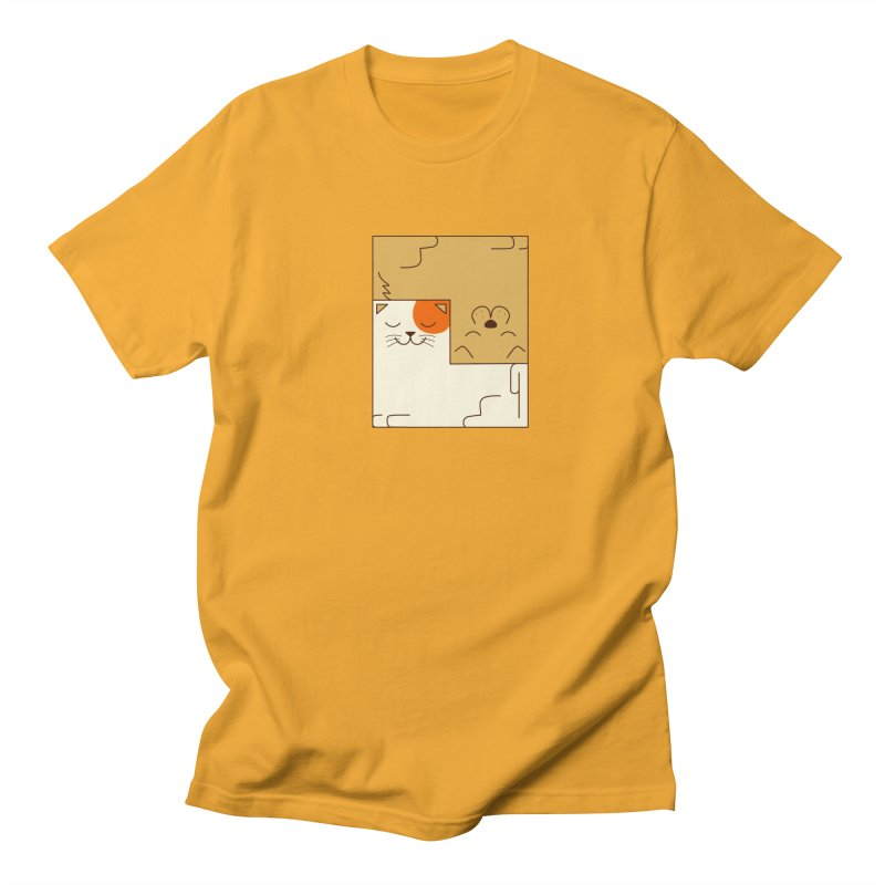 Cat and Dog Men's Regular T-Shirt by coffeeman's Artist Shop