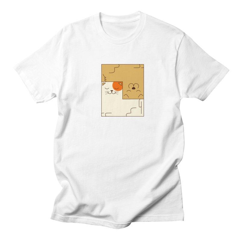 Cat and Dog Women's Regular Unisex T-Shirt by coffeeman's Artist Shop