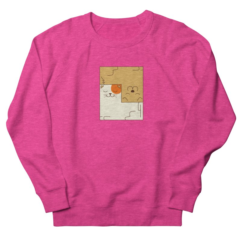 Cat and Dog Women's French Terry Sweatshirt by coffeeman's Artist Shop
