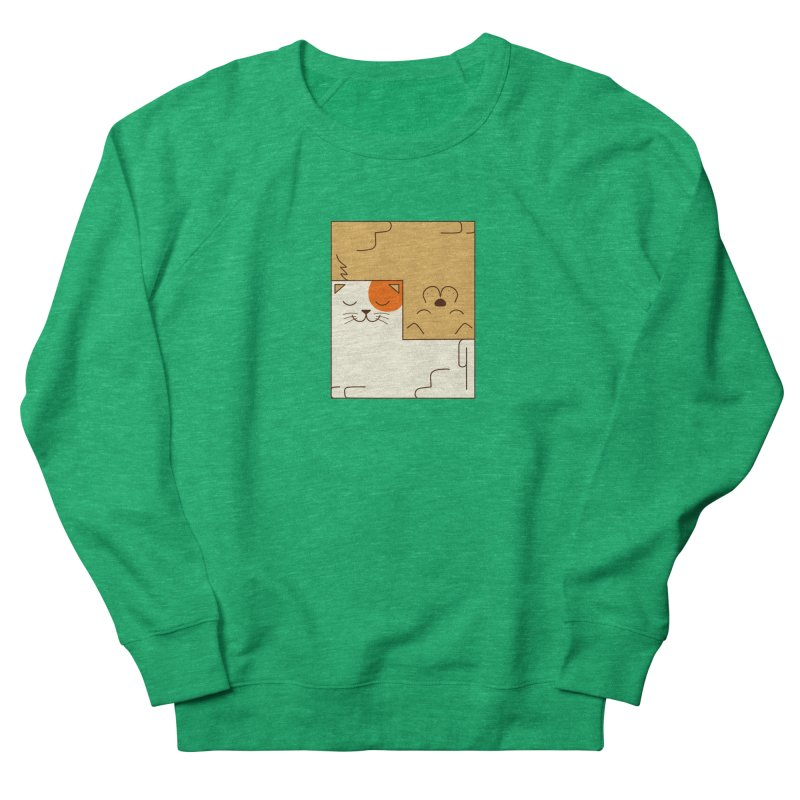 Cat and Dog Men's French Terry Sweatshirt by coffeeman's Artist Shop
