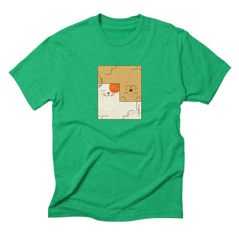 Cat and Dog Men's Triblend T-Shirt by coffeeman's Artist Shop