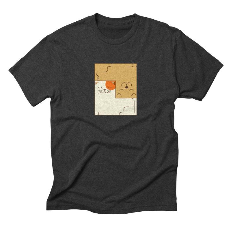 Cat and Dog Men's Triblend T-Shirt by coffeeman's Artist Shop