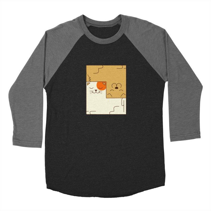 Cat and Dog Women's Baseball Triblend Longsleeve T-Shirt by coffeeman's Artist Shop