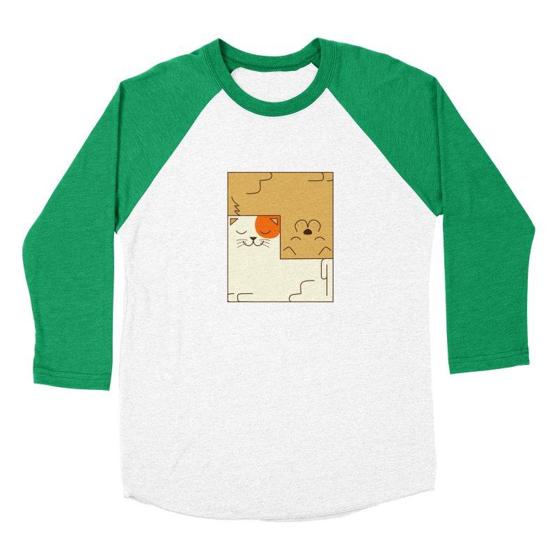 Cat and Dog Men's Baseball Triblend Longsleeve T-Shirt by coffeeman's Artist Shop