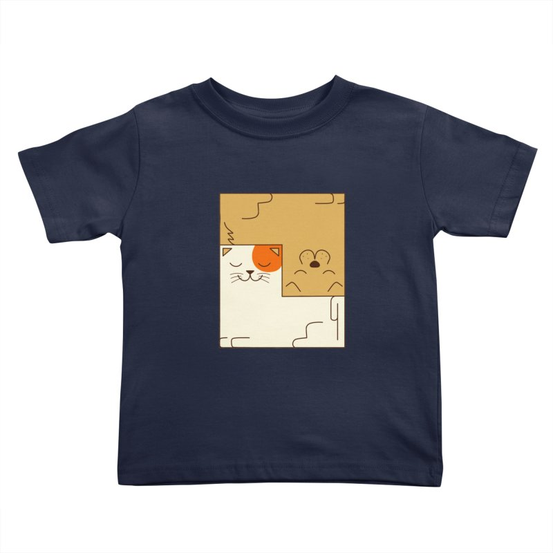 Cat and Dog Kids Toddler T-Shirt by coffeeman's Artist Shop
