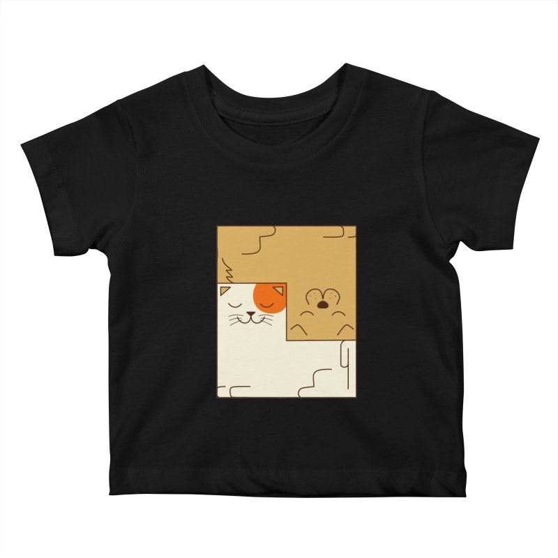 Cat and Dog Kids Baby T-Shirt by coffeeman's Artist Shop