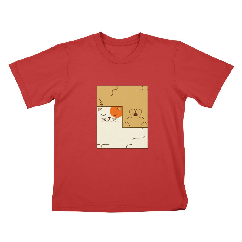 Cat and Dog Kids T-Shirt by coffeeman's Artist Shop
