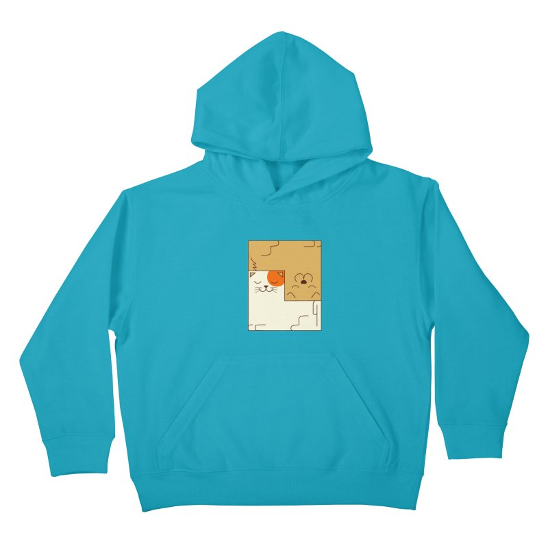 Cat and Dog Kids Pullover Hoody by coffeeman's Artist Shop