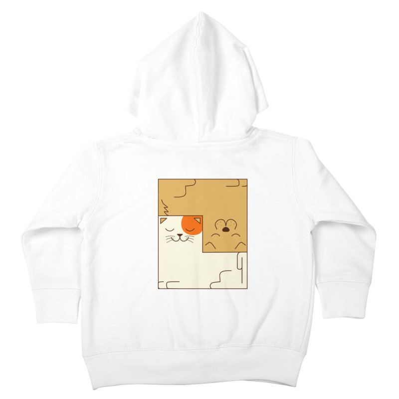 Cat and Dog Kids Toddler Zip-Up Hoody by coffeeman's Artist Shop