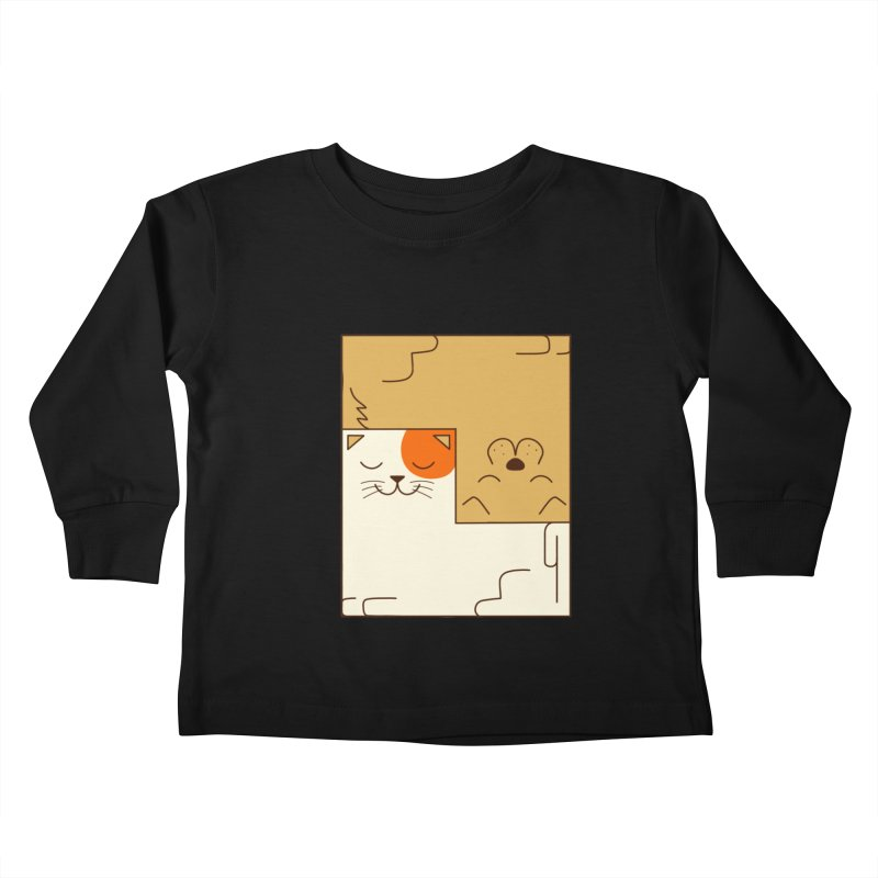 Cat and Dog Kids Toddler Longsleeve T-Shirt by coffeeman's Artist Shop